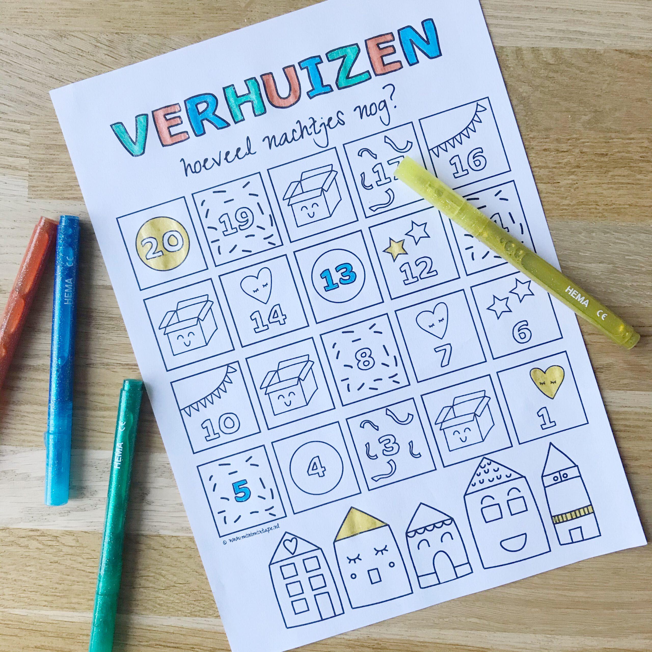 gratis printable aftelkalender verhuizen