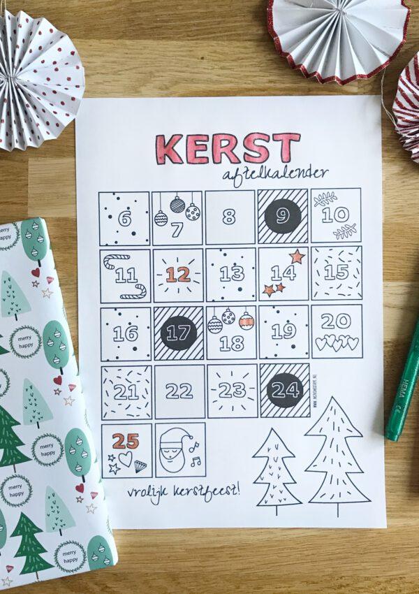 Gezellig samen aftellen naar Kerstmis met de gratis kerst aftelkalender