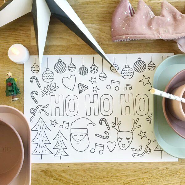 printable kleurplaat kerst
