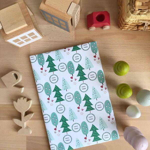 gratis printable kerst inpakpapier
